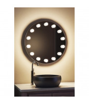 Гримерное зеркало для ванной комнаты круглое 80х80